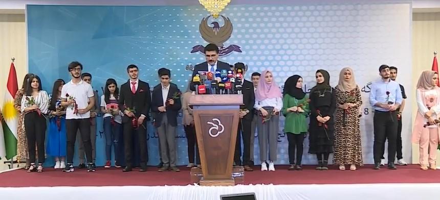 تعرف على اسماء الاوائل بنتائج الصفوف المنتهية باقليم كوردستان