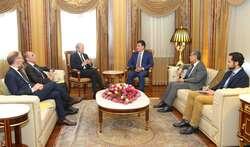 مبعوث الرئيس الفرنسي يبحث مع بارزاني سبعة محاور بينها استمرار دعم كوردستان