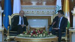 رئيس إقليم كوردستان يجتمع مع وزير الخارجية الفرنسي