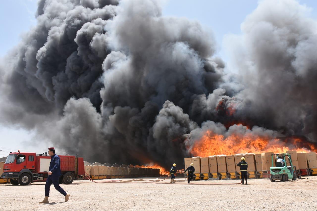 اندلاع حريق في مستشفى وسط بغداد
