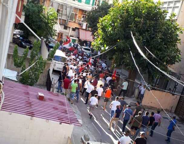 Lebanese protestors storm the streets after news about the drop of Lebanese pound