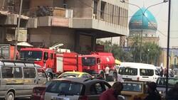 اندلاع حريق في مخازن ومحال تجارية وسط العاصمة بغداد