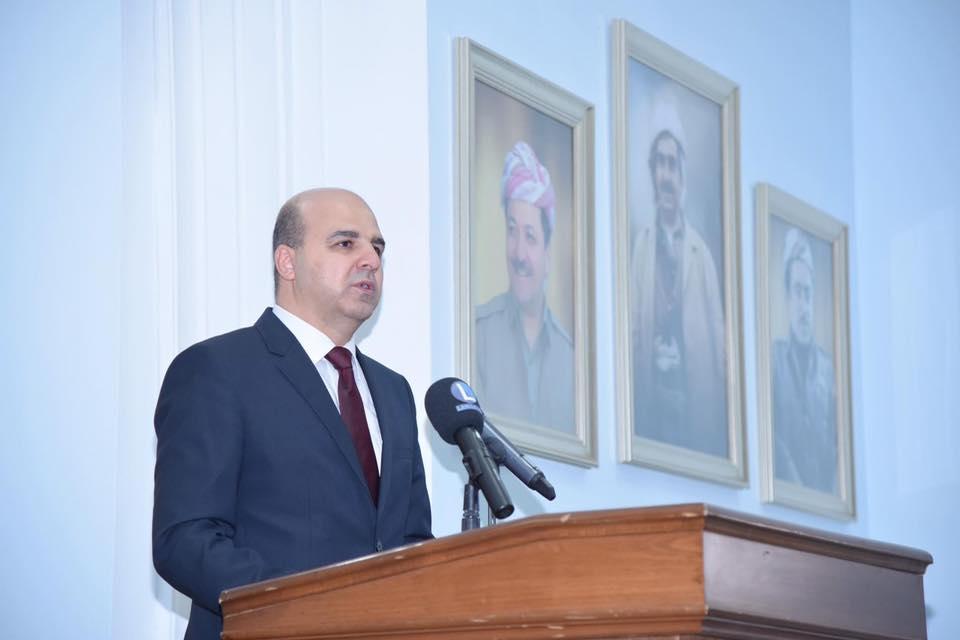 استقالة وزير في حكومة اقليم كوردستان من منصبه القيادي في الديمقراطي الكوردستاني