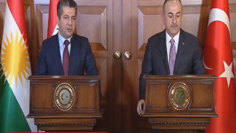 مسرور بارزاني: كوردستان بوابة للتجارة التركية مع العراق.. أوغلو: لا مشاكل لدينا مع الكورد