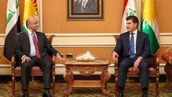 برهم صالح يصل اربيل ويجتمع مع قادة اقليم كوردستان