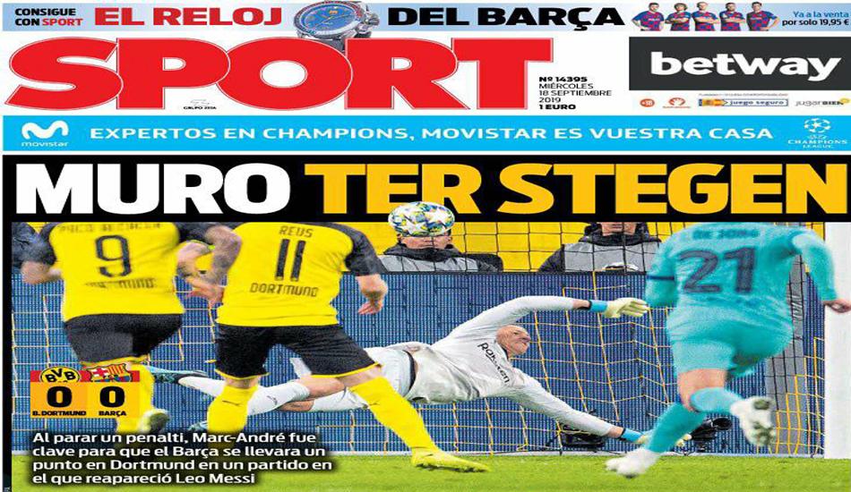 الحائط الألماني يتصدر عناوين الصحف الكتالونية