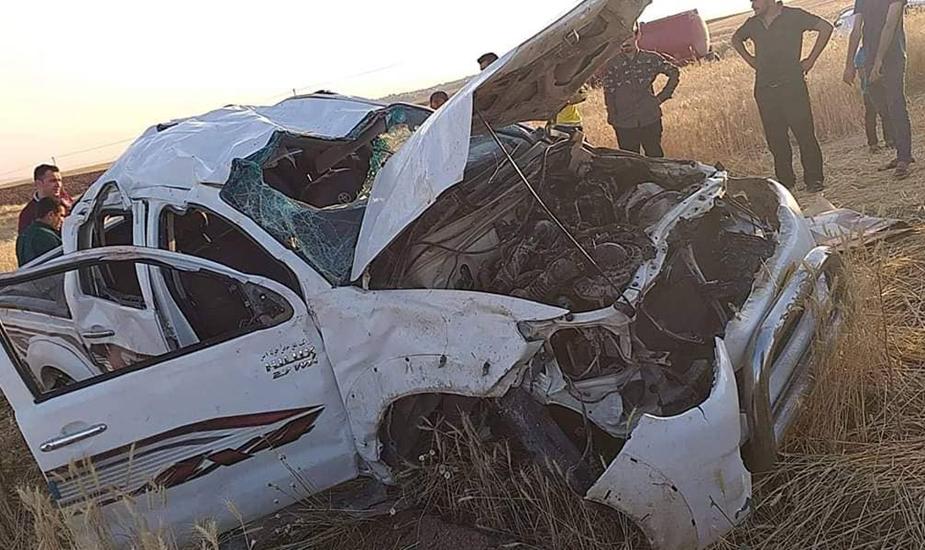 مصرع واصابة اربعة اشخاص بحادث مروري في دهوك