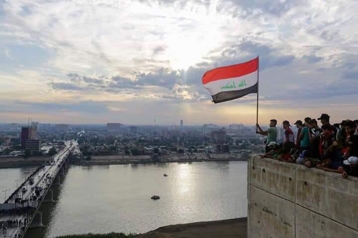 """قتيل وعشرات الجرحى من المتظاهرين بمحاولة عبور جسر """"السنك"""" وسط بغداد"""