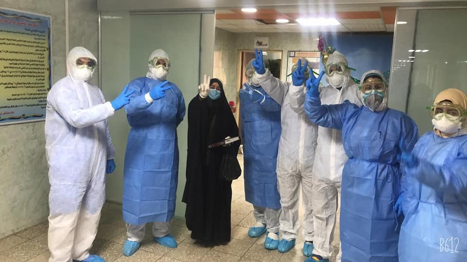 Corona infected people recover in Baghdad