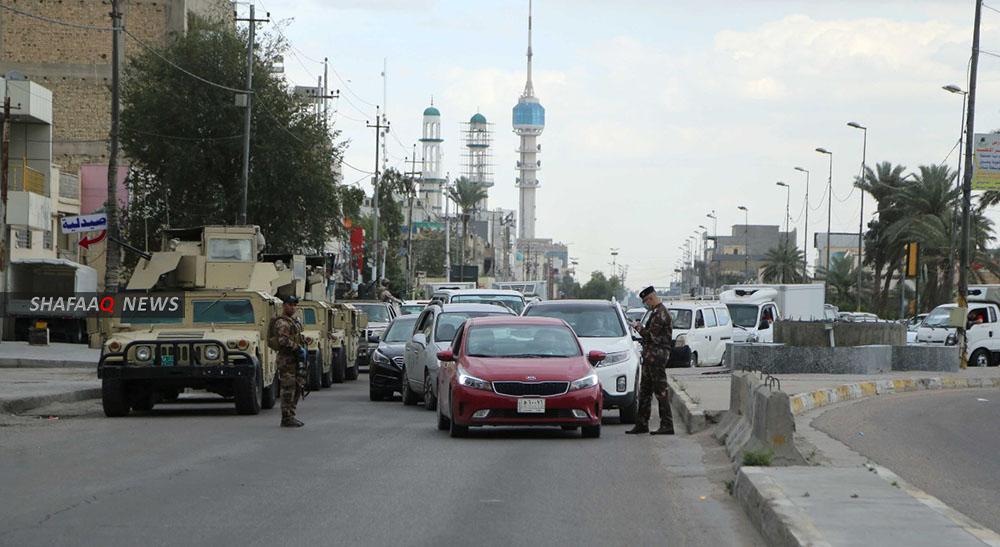 ضبط عجلة تحمل منصات اطلاق صواريخ كاتيوشا شمالي بغداد