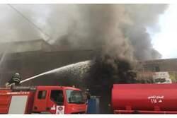 """اندلاع حريق """"كبير"""" في مخازن تجارية قرب مول في اربيل"""