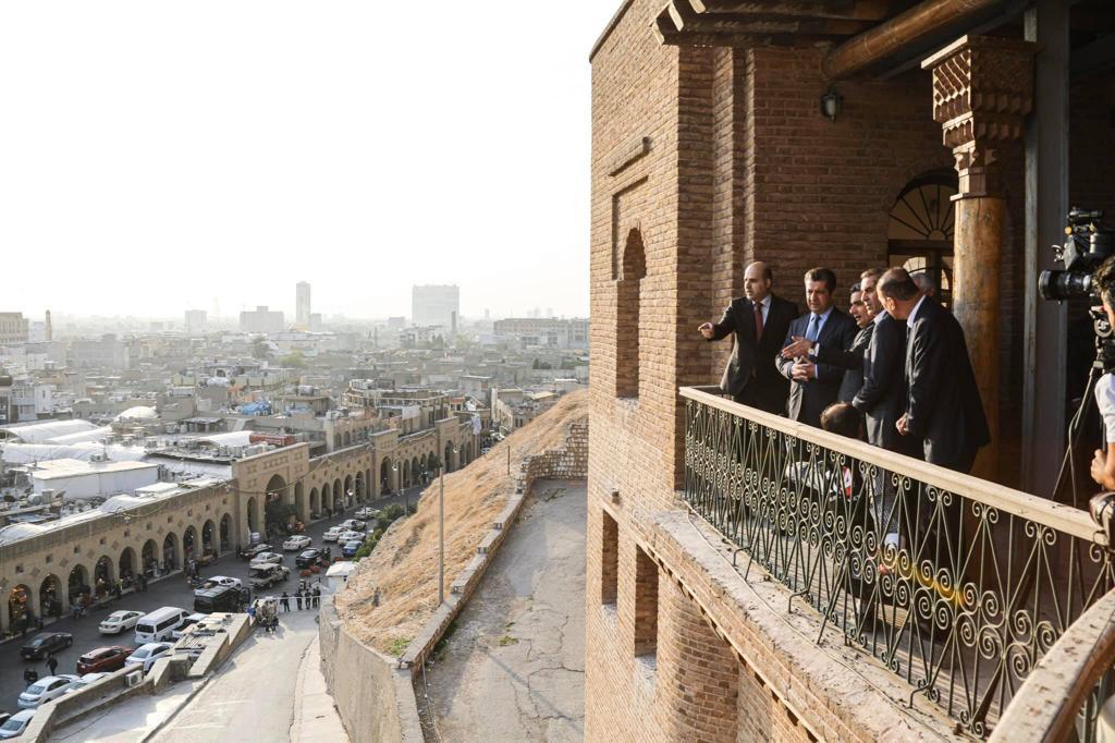 صور.. مسرور بارزاني يزور قلعة أربيل: سنبذل كل جهودنا لحماية المواقع التاريخية