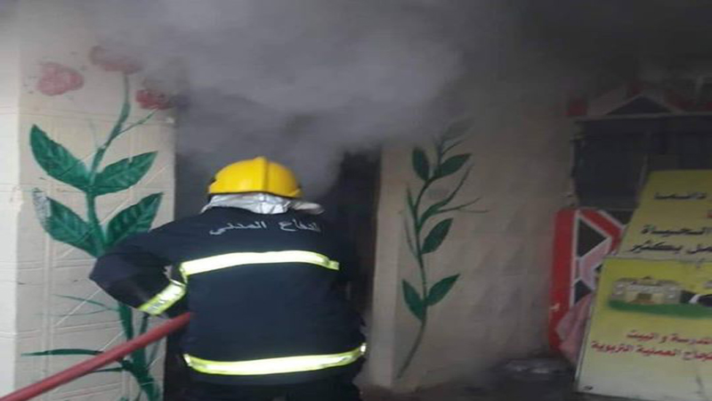نشوب حريق في مدرسة بمحافظة واسط