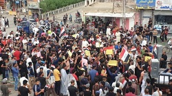 اصابة قائد امني كبير برشق حجارة متظاهرين جنوبي العراق