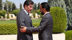 Nechirvan Barzani holds a meeting with Mohammed al-Halbousi in Baghdad