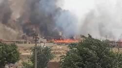 حريقان يلتهمان مساحة كبيرة من الاراضي في السليمانية واعتقال متورطين