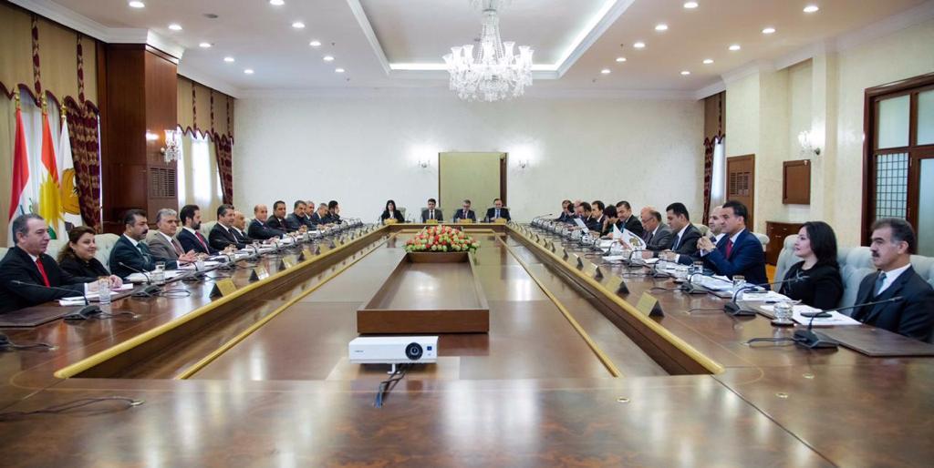 """مجلس وزراء كوردستان يناقش اتفاق موازنة 2020 وملف الكهرباء """"الذكي"""""""