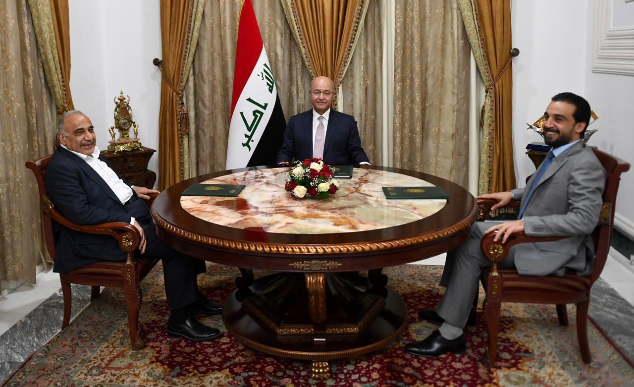 عبد المهدي يوجه رسالة الى الحلبوسي لاستكمال الحكومة العراقية (مرفق بالنص)