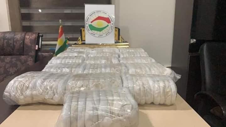 Erbil: seizure of a large quantity of narcotics