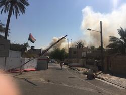 """صور .. اندلاع حريق """"هائل"""" في مذخر للأدوية في العاصمة بغداد"""