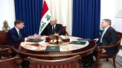 """صالح يبلغ وفداً أميركياً """"حلول"""" الأوضاع الحالية في العراق"""