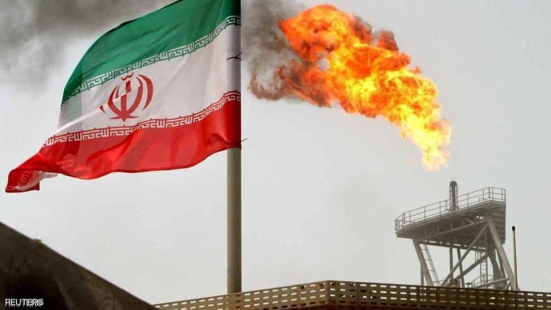 A huge fire at an Iranian oil facility