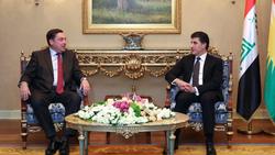 """كوردستان وبريطانيا يبحثان أوضاع المنطقة ومفاوضات حل """"المشاكل العالقة"""""""