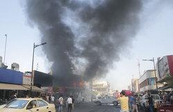 اندلاع حريق في محال بسوق شعبية وسط اربيل