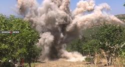 """المقاتلات التركية تقصف الشريط الحدودي مع اقليم كوردستان وتلحق اضرارا """"كبيرة"""""""