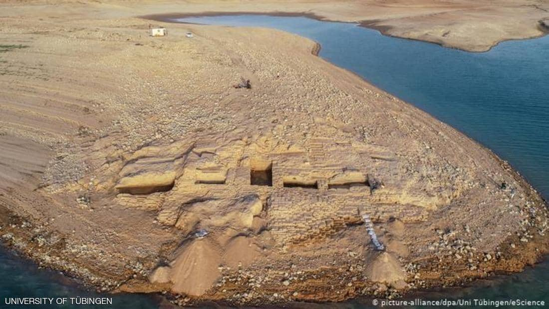 الجفاف يكشف قصرا لامبراطورية كوردية قرب الموصل