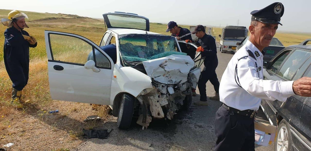 اصابة سبعة أشخاص بجروح بحادث مروري في رانية