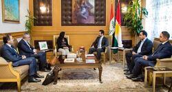 """طالباني يبحث مع برلمانيين اوربيين تبعات الحرب في """"روژافا"""""""