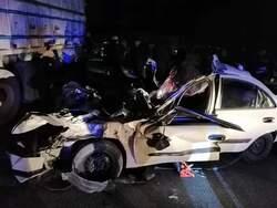 صور .. وفاة واصابة 6 اشخاص بحادث تصادم مروع في السليمانية