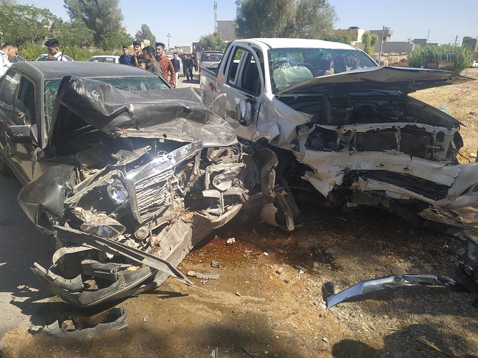 تسعة مصابين بحادث في محافظة السليمانية