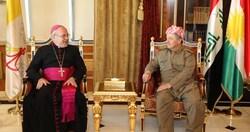 اربعة ملفات على طاولة مباحثات مسعود بارزاني وسفير الفاتيكان