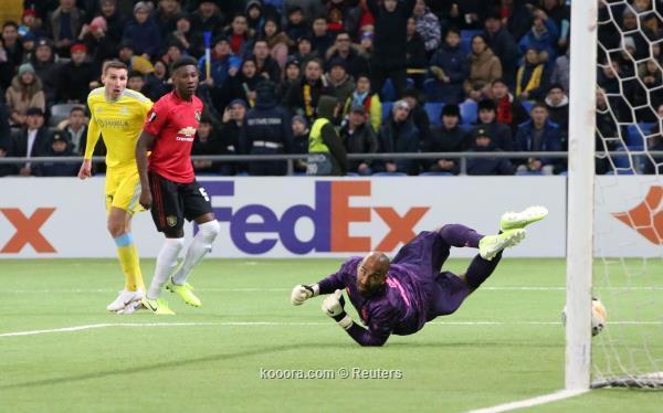 مانشستر يونايتد يتعثر أمام أستانا في الدوري الاوروبي