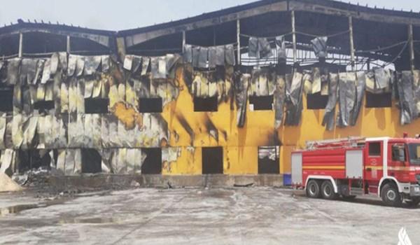 """سليماني: حريق مصنع """"كالة"""" الايراني بالعراق كان متعمدا والاضرار 80 مليون دولار"""