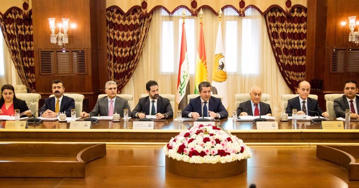 مجلس وزراء إقليم كوردستان يعقد اجتماعاً ويصدر عدداً من القرارات