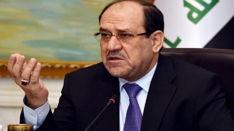 """المالكي يقدم مبادرة ويدعو المتظاهرين """"التوقف قليلاً"""" ويحذر من """"حمام دم"""""""