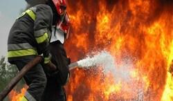"""حريق ضخم بـ""""كنز المال"""" الايراني قرب الحدود العراقية"""