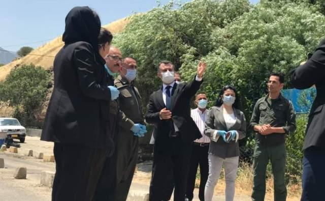 وفد من برلمان كوردستان يزور مواقع القصف التركي ويرفع تقريراً مفصلاً