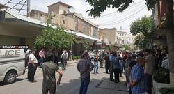 اصحاب المحال التجارية في السليمانية يتظاهرون ضد حظر التجوال
