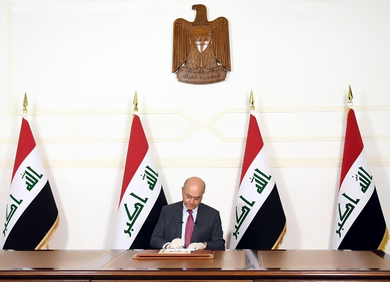 صالح يأسف من الاضطراب السياسي بالعراق ويحذر من عدم تشكيل حكومة كاملة