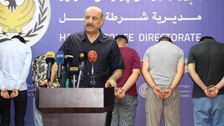 """اربيل تعتقل اكثر من 50 متهماً بينهم """"قتلة"""""""