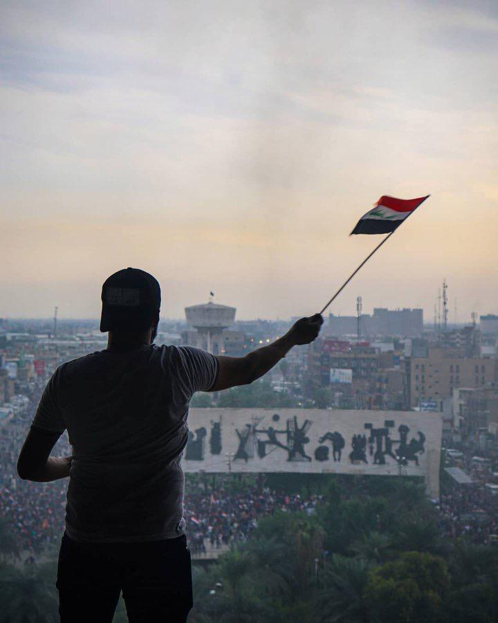 Demonstrations in the capital Baghdad turn into an open sit-in in Tahrir Square