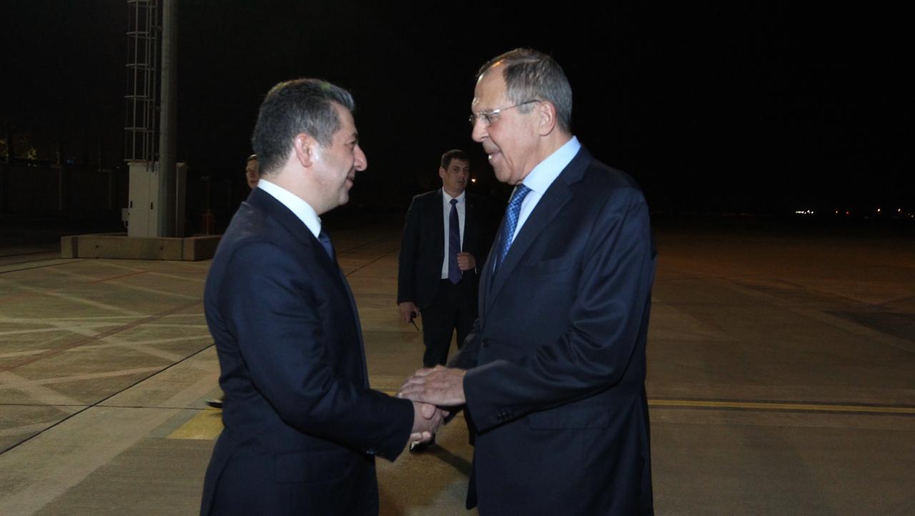 وزير الخارجية الروسي يصل الى اربيل