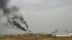 حريق بمصفاة نفطية اقصى جنوب العراق