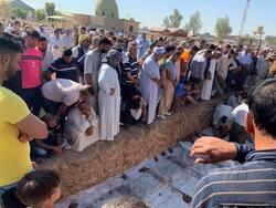 صور .. مراسم دفن ضحايا مجزرة كركوك وتضارب بشأن الجهة المنفذة ومقتل ضابط