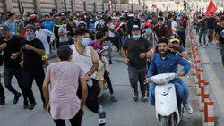 مفوضية حقوق الانسان: شهيدان و176 جريحا ومصابا بحالات اختناق