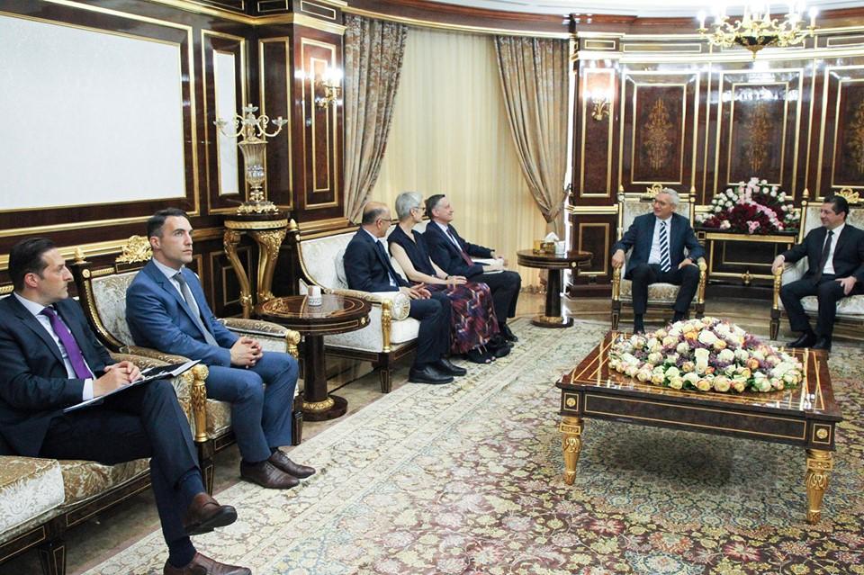 مسرور بارزاني يؤكد لألمانيا رغبة اقليم كوردستان بحوار بناء مع بغداد
